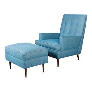 Milo Baughman Mid Century Lounge Chair Ottoman For Sale