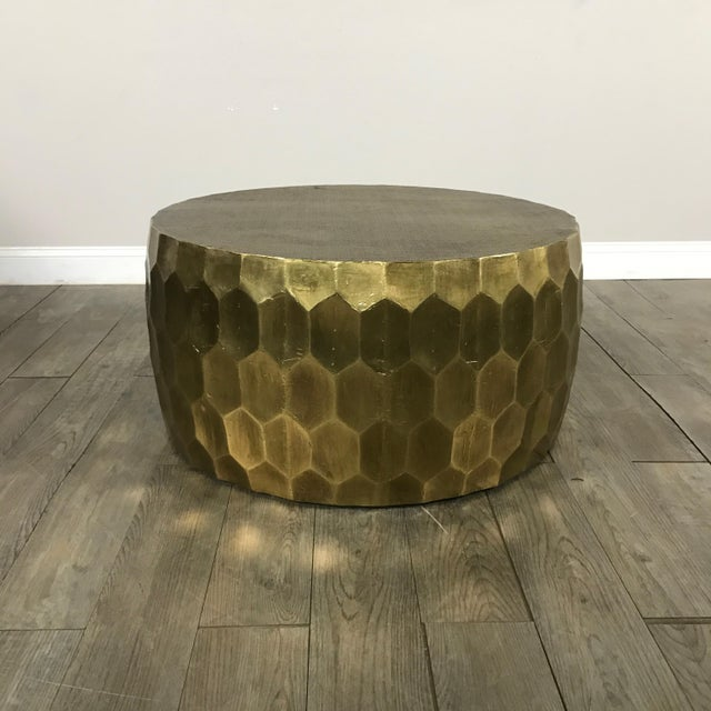 Pottery Barn Metal Clad Coffee Table - Image 2 of 10
