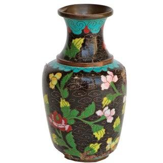 Small Black Cloisonne Vase