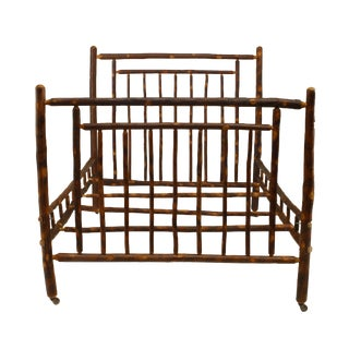 1930s Rustic Old Hickory Bed With Spindle Design For Sale