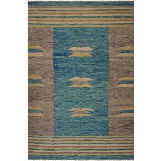 Modern Smithson Hand-Woven Kilim Wool Rug - 8′3″ × 9′8″ For Sale