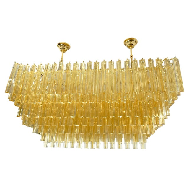 1960s Stunning Venini Rectangular Chandelier For Sale - Image 5 of 5
