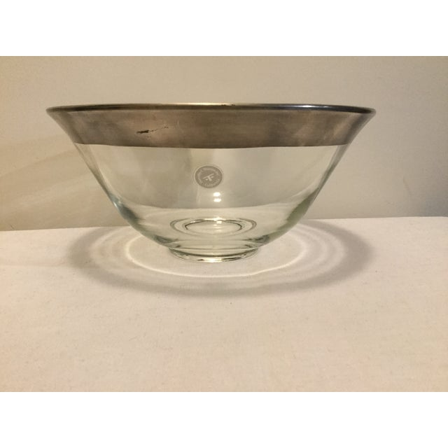 Metal 1970s Dorothy Thorpe Crystal Serving Bowl For Sale - Image 7 of 7