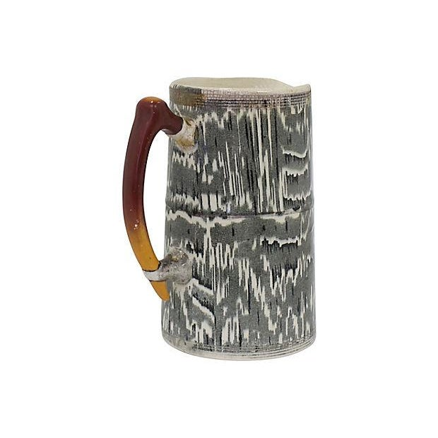 Country 1930s Silver Shield Faux Bois Jug For Sale - Image 3 of 5