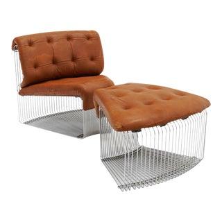 Verner Panton Pantonova Chair and Ottoman For Sale