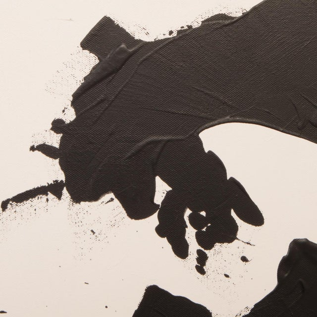 2020s Original Black and White Abstract Painting on Gallery Wrapped Canvas For Sale - Image 5 of 7