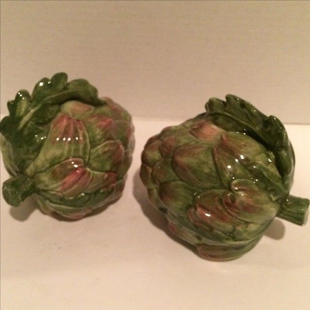 Decorative Ceramic Artichokes - Pair - Image 4 of 7