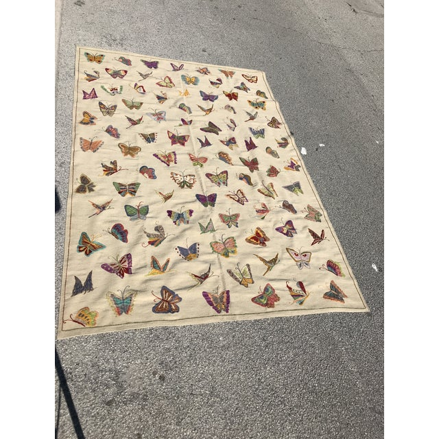 Handmade Butterfly Kilim Rug - 6′9″ × 9′10″ - Image 2 of 4
