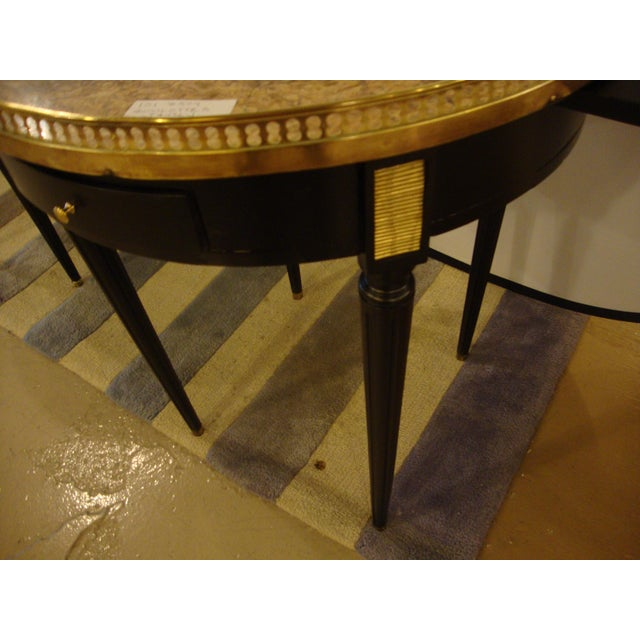 Gold Louis XVI Style Bouillotte End Tables - A Pair For Sale - Image 8 of 11