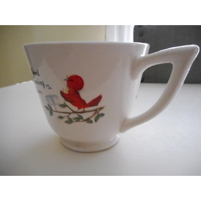 "50s ""Goodmorning You Old Grouch"" Mug For Sale - Image 5 of 7"