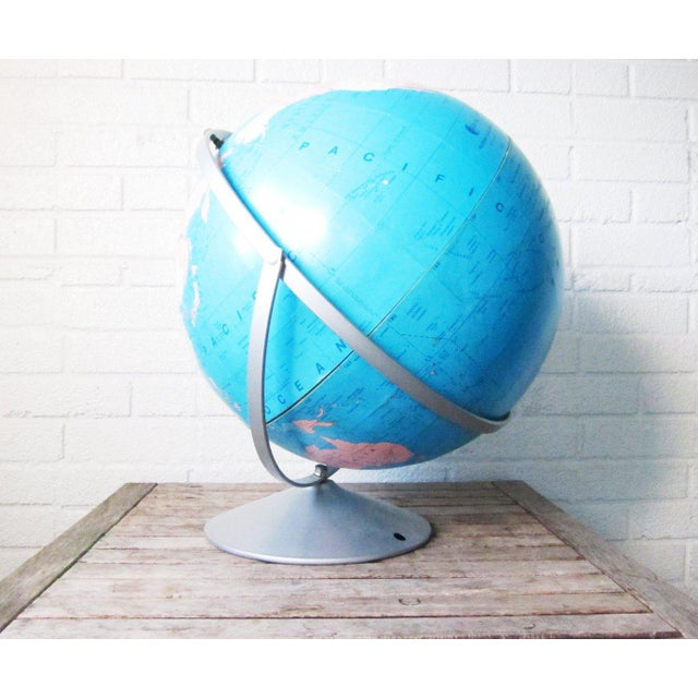 Blue 1970s Vintage Large Globe For Sale - Image 8 of 11