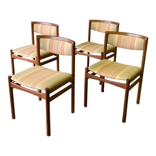 Danish Mid Century Modern Teak Dining Chairs, Set/4 For Sale