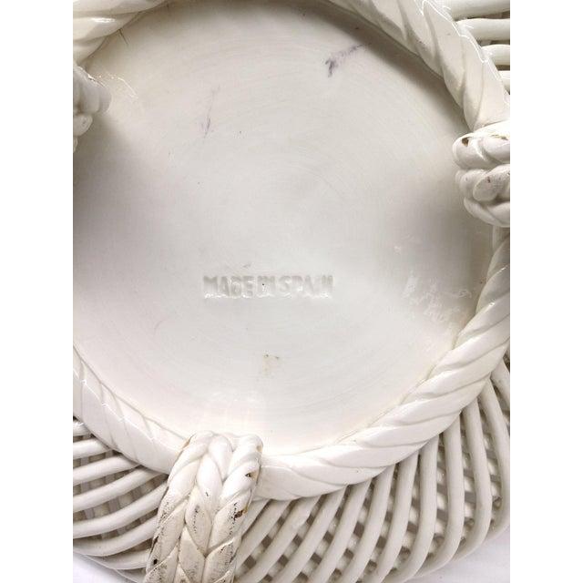 Spanish Lattice Weave Ceramic Dish - Image 11 of 11