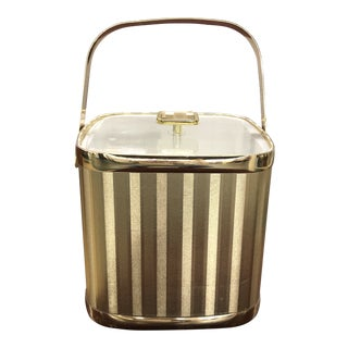 Culver Mid-Century Gold Ice Bucket For Sale