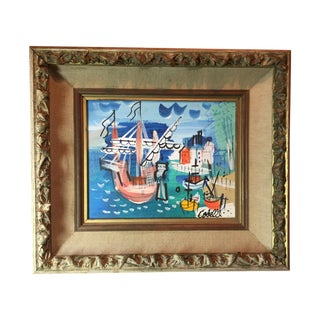 Charles Cobelle Original Oil Painting on Canvas For Sale
