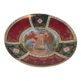 Carlsbad Sevres Style Porcelain Mythological Plate For Sale