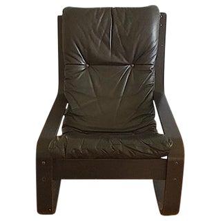 Gerard Van Den Berg Leather Sling Chair For Sale