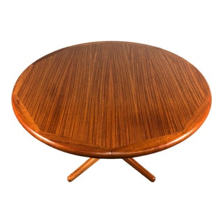 Mid-Century Danish Modern Teak Dining Table With 2-Extensions by Evard Valentinsen For Sale