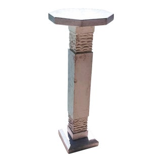 Modern Botticino Italian Marble Pedestal For Sale