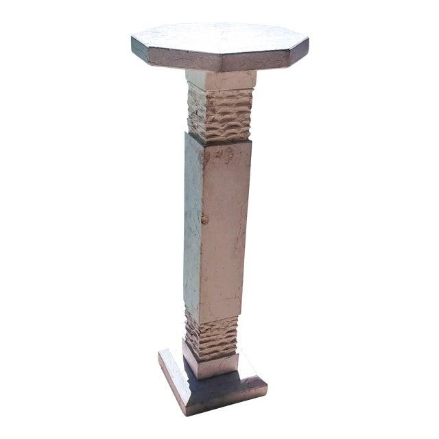 Modern Botticino Italian Marble Pedestal For Sale