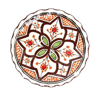 Moroccan Brown Hand Painted Plate