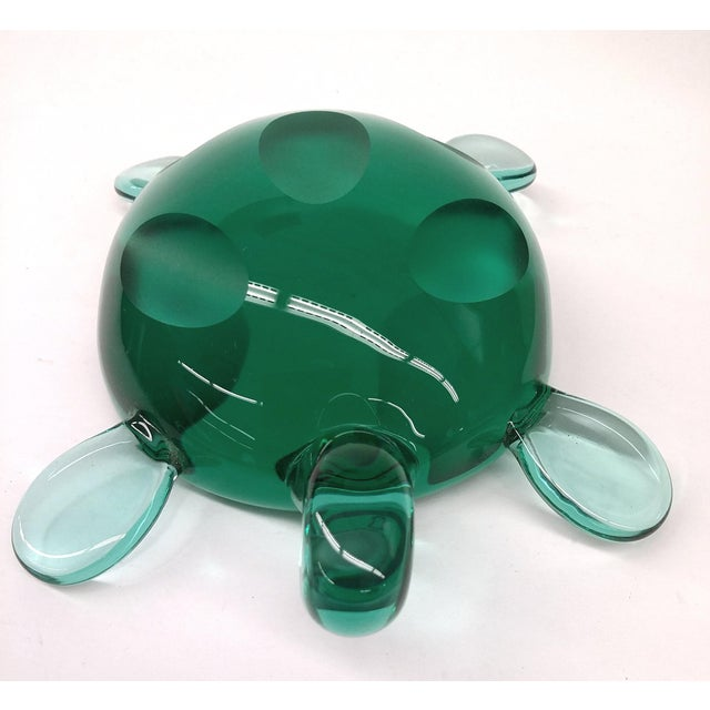 Modern Jade Green Crystal Turtle - Image 7 of 8