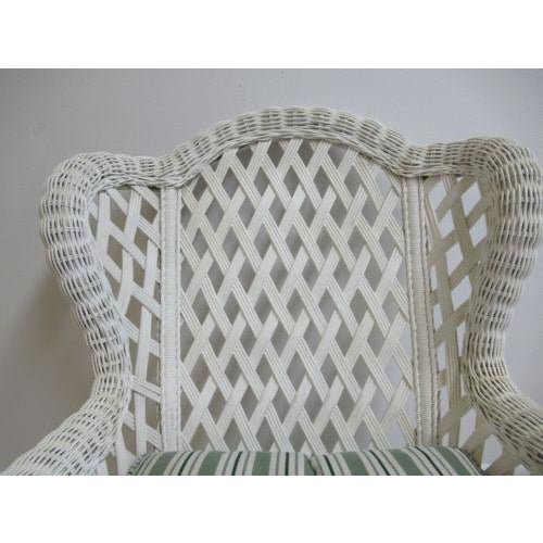 Vintage Custom Wicker Patio Porch Living Room Lounge Chair For Sale - Image 11 of 13