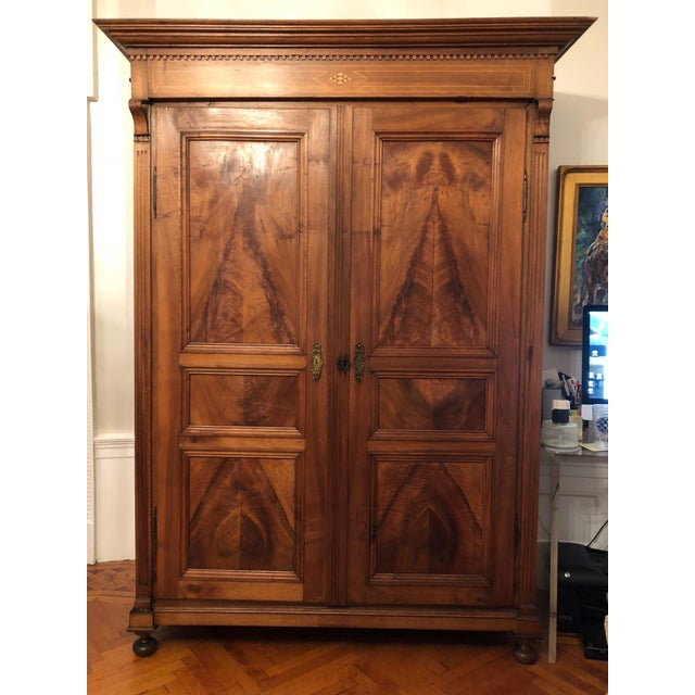19th Century Walnut Armoire For Sale - Image 13 of 13