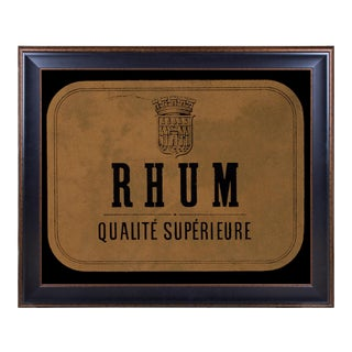 Lithograph of Antique Rum Label From the French West Indies: Rhum Qualité Supérieure For Sale
