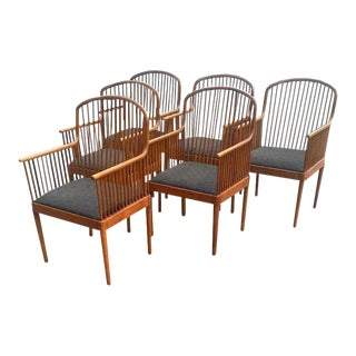 Exeter Chair by Davis Allen for Knoll Armchairs - Set of 6 For Sale