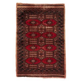 "Vintage Persian Rug, 3'02"" X 4'10"""