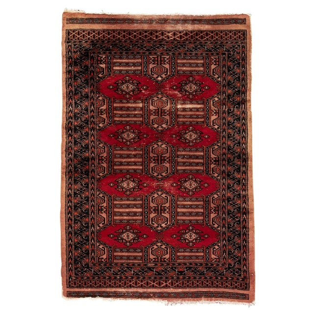 """Vintage Persian Rug, 3'02"""" X 4'10"""" For Sale"""