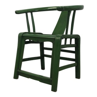Green 19th Century Chinese Side Chair