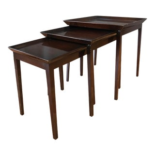 Widdicomb Mahogany Nesting Tables - Set of 3 For Sale