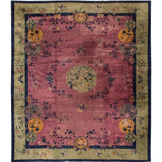 "Apadana Chinese Art Deco Rug - 12'3"" X 14' For Sale"