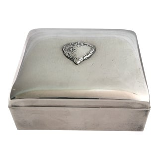 Vintage Towle Silver Plate Jewelry Box For Sale