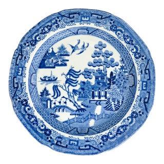 Stevenson Willow Pattern Plate - 1880 For Sale
