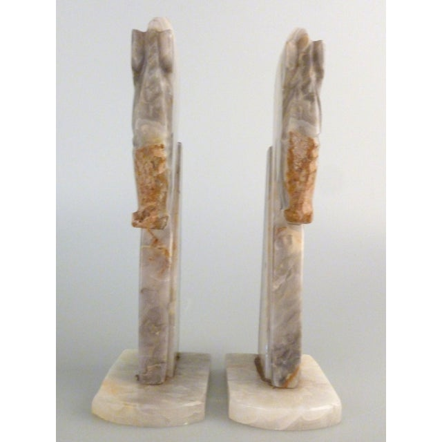 Handmade Onyx Horse Bookends - A Pair - Image 6 of 9