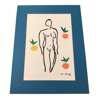 Henri Matisse Full Color Modernist Matted Print