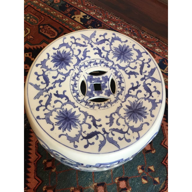 Chinoiserie Ceramic Garden Stool For Sale In Houston - Image 6 of 8