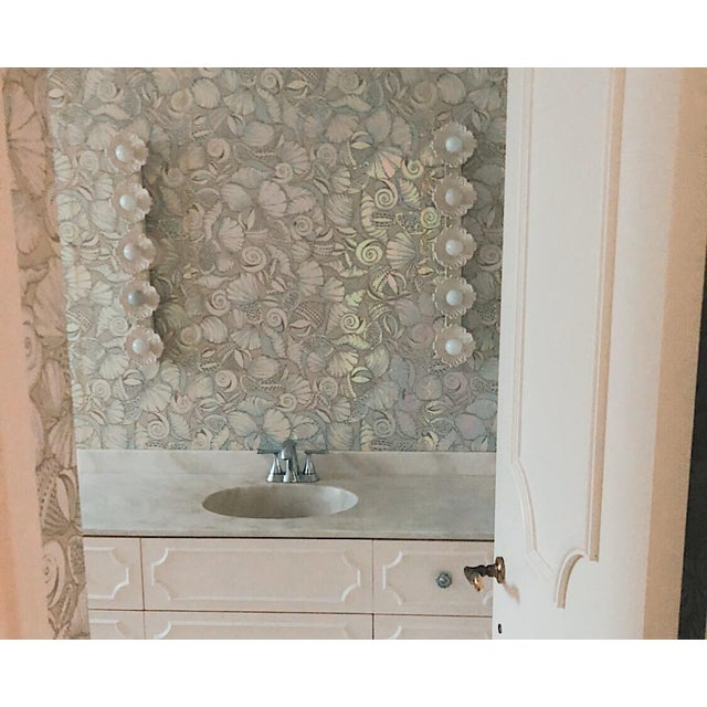 Vintage White Floral Wall Lights - a Pair For Sale In Miami - Image 6 of 8