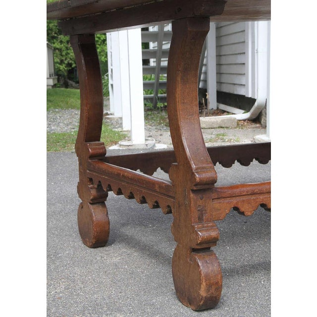 Spanish Spanish Chestnut Center Table For Sale - Image 3 of 7
