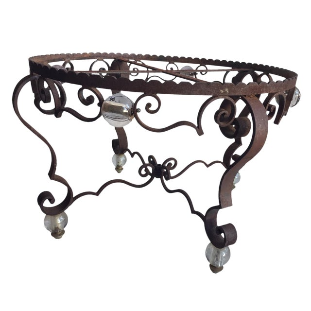 Vintage Iron Table Base For Sale