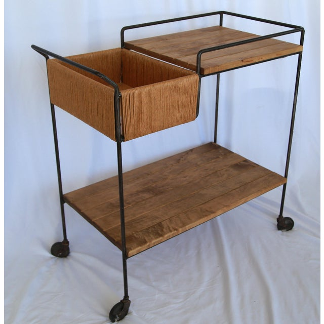 1950s 1950s Mid-Century Modern Sleek Arthur Umanoff Bar Cart For Sale - Image 5 of 5