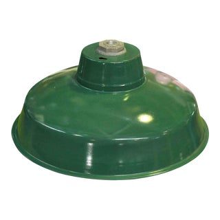 Industrial Green Enamel Light Shade For Sale