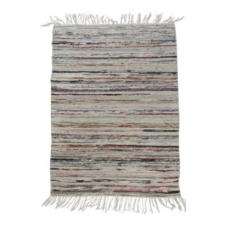 "Swedish Handmade Rag Rug - 29""x 40.5"" For Sale"