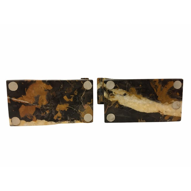 Black Vintage Neoclassical Marble Bookends - a Pair For Sale - Image 8 of 9