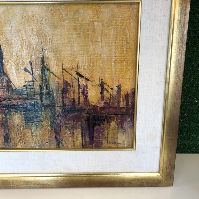 1960s Abstract Dock Scene For Sale - Image 5 of 13