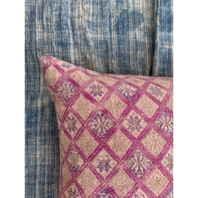 2020s Antique Tribal Wedding Quilt Pillow For Sale - Image 5 of 11