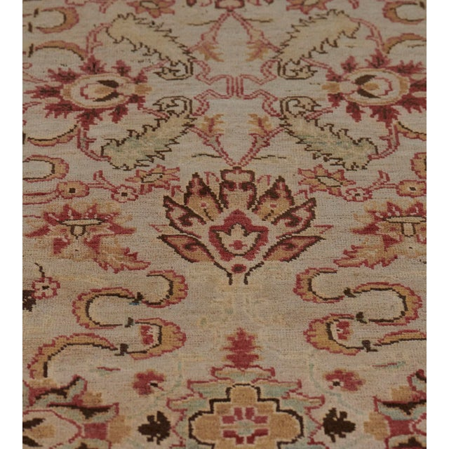 MANSOUR Handwoven Revival Agra Style Wool Rug For Sale - Image 4 of 13